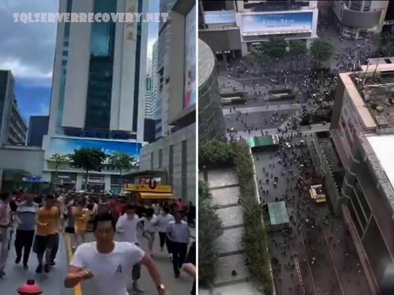 ตึกระฟ้า ในจีนที่สั่นสะเทือนรุนแรง ตึกระฟ้ากว่า 70 ชั้นได้ถูกอพยพออกไปหลังจากที่มันเริ่มสั่นคลอนส่งผลให้ผู้ซื้อต้องดิ้นรนเพื่อความปลอดภัย